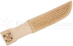 Basketweave Leather Sheath (Natural) Fits up to 7 inch Fixed Blade