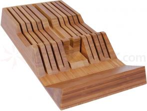 Shun DM0835 11-Slot In-Drawer Bamboo Knife Tray