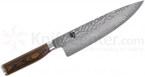 Shun TDM0706 Premier Chef's Knife 8 inch Hammered Blade, PakkaWood Handle