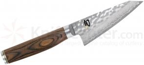 Shun TDM0729 Premier Honesuki Knife 4.5 inch Hammered Blade, PakkaWood Handle