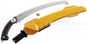 Silky Saws Sugoi 360 Pistol Grip Saw, 14.2 inch Curved Blade, Rubber Handle, Plastic Sheath