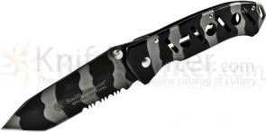 Smith & Wesson Special Tactical Urban Camo Folding Knife 3.3 inch Combo Tanto Blade, Steel Handles