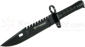 Smith & Wesson Special Ops M-9 Bayonet 7.8 inch Black Blade, Nylon Handle, Scabbard