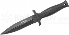 Smith & Wesson HRT False Edged Fixed 6 inch Blade, Black TPE Handle