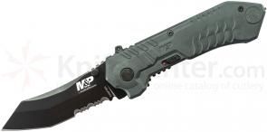 Smith & Wesson Military & Police MAGIC Assisted 2.9 inch Black Combo Scoop Back Tanto Blade