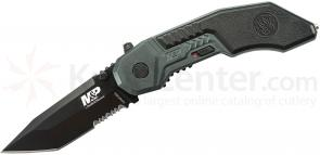 Smith & Wesson Military & Police MAGIC Assisted 2.9 inch Black Combo Tanto Blade