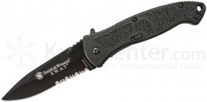 Smith & Wesson SWAT Assisted Opening Folder 3.7 inch Black Combo Edge