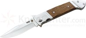 SOG FF30 Fielder Folding Knife 3.3 inch Blade, Wood Handles