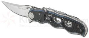 SOG Topo Meridian G10 Handle Satin Finished 3.25 inch Plain Edge Blade Assisted Opening