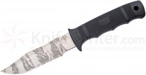SOG M37TK SEAL Pup 4.75 inch TigerStripe Combo Blade, GRN Handles Kydex Sheath