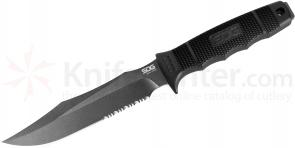 SOG S37K SEAL Team Fixed 7 inch Black Combo Blade, GRN Handle, Kydex Sheath