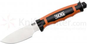 SOG BLT20-L BladeLight Hunt Fixed 3.8 inch Satin Blade, Orange Nylon Handles, 37 Max Lumens