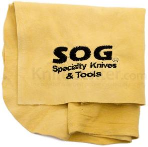 Genuine Leather Chamois Cloth with Embroidered SOG Logo