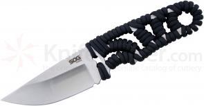 SOG FX31K Tangle Fixed 4.85 inch Satin Drop Point Blade, Paracord Handle, Molded Nylon Sheath