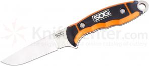 SOG HT021L HuntsPoint Boning Fixed 3.6 inch Satin Plain Blade, Zytel Handles, Leather Sheath