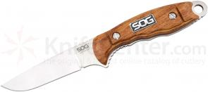 SOG HT022L HuntsPoint Boning Fixed 3.6 inch Satin Plain Blade, Rosewood Handles, Leather Sheath
