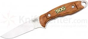 SOG HT023L HuntsPoint Boning Fixed 3.6 inch Satin S30V Plain Blade, Rosewood Handles, Leather Sheath