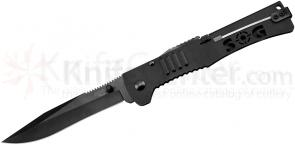 SOG SJ-52 SlimJim XL Folding Knife Assisted 4.18 inch Black Plain Blade, Black Handles