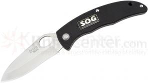 SOG SP-51 SlipZilla Folding Knife 3.2 inch Satin Plain Blade, G10 Handles