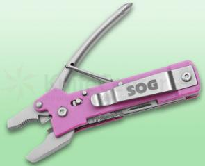 SOG Micro ToolClip (Pink) Multi-Tool, 3.75 inch Closed
