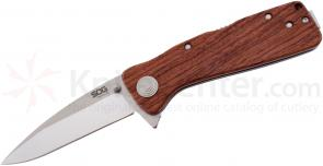 SOG TWI24 Twitch XL Folding Knife Assisted 3.25 inch Satin Plain Blade, Rosewood Handles