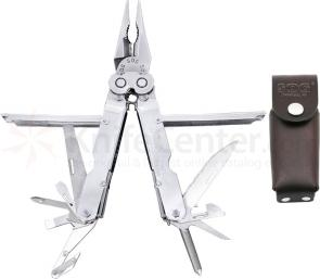 SOG PowerLock 2.0 EOD Stainless Finish Multi-Tool with Leather Sheath