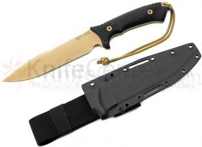 Spartan Blades Spartan-Harsey Model 1, Limited Edition, 7-5/8 S35VN FDE Blade, Black Micarta Handles, Black Kydex Sheath