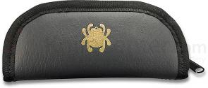 Spyderco 12C Large Mock Leather Padded Zipper Pouch, 7 inch Overall