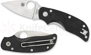 Spyderco C129GP Cat Folding Knife 2.44 inch CTS-BD1 Satin Plain Blade, Black G10 Handles