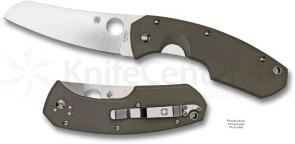 Spyderco Knives Rock Lobster 3-3/4 inch VG10 Steel Blade, Foliage Green G10 Handles