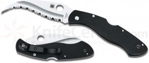 Spyderco C12GS Civilian Folding Knife 4-1/8 inch VG10 Serrated Blade, G10 Handles