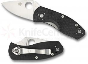 Spyderco C148GP Ambitious Folding Knife 2-1/4 inch Plain Blade, G10 Handles