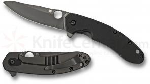 Spyderco C156GPBBK Brad Southard Flipper 3.46 inch Black CTS-204P Carpenter Steel Blade, Black G10 Handle