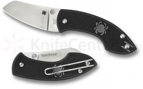 Spyderco C163PBK Pingo Folding Knife 2.35 inch Plain N690CO Blade, Black FRN Handles