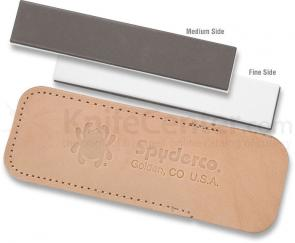 Spyderco (Double Stuff) Sharpening Pocket Stone, Fine and Medium Grits