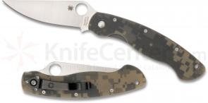 Spyderco C36GPCMO Military Folding Knife 4 inch S30V Satin Plain Blade, Digital Camo G10 Handles
