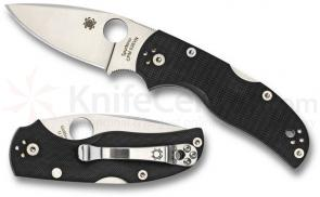 Spyderco C41GP5 Native 5 Folding Knife 3 inch S35VN Satin Plain Blade, Black G10 Handles