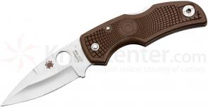 Spyderco C41PBN Native Lightweight Folding Knife 3-1/16 inch Carpenter CTS-XHP Blade, Brown FRN Handles, KC Exclusive