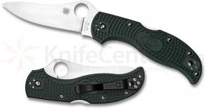 Spyderco C90PGRE Stretch Folding Knife 3.5 inch ZDP189 Plain Blade, British Racing Green FRN Handles