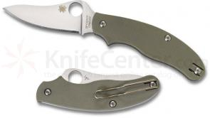 Spyderco UK Penknife 3 inch S30V Drop Point Blade, Foliage Green G10 Handles