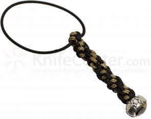 Spyderco BEAD4LY Mini Pewter Round Bead with Two-Tone Lanyard