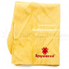 Genuine Leather Chamois Cloth with Embroidered Spyderco Logo