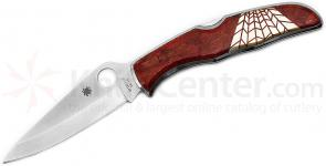 Spyderco Endura Folding Knife 3-3/4 inch VG10 Plain Blade, Jewelry Collection, Red Coral and Mother of Pearl Onlays