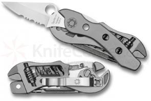 Spyderco SpydeRench Multi-Tool 2-1/2 inch Blade, Pliers, Screwdriver Bits