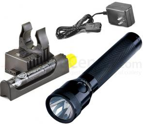 Streamlight Stinger Rechargeable Xenon Flashlight, AC Steady Charger, PiggyBack Holder