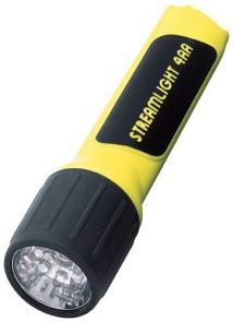 Streamlight Flashlight 7 White LEDs Uses 4AA Batteries Yellow 6-5/8 inch