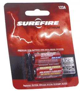 SureFire SF2-CB 2 Pack of SureFire 123A Lithium Batteries