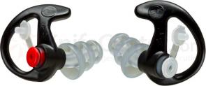 SureFire EP4 Sonic Defender Plus Earplugs, Medium, Black, 1 Pair