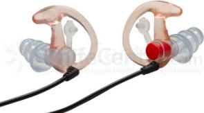 SureFire EP4 Sonic Defender Plus Earplugs, Medium, Clear, 1 Pair