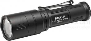 SureFire EB1C-A Backup Dual-Output LED Click Switch Flashlight w/ Shroud, Silver, 200 Max Lumens
